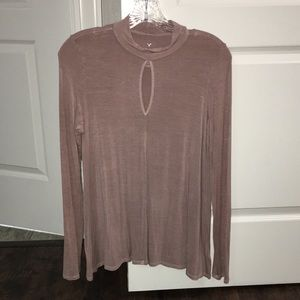 Women's American eagle long sleeve blush top M